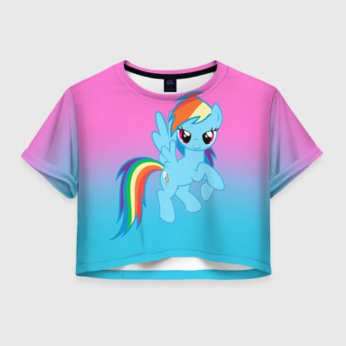 Женская футболка Crop-top 3D My Little Pony
