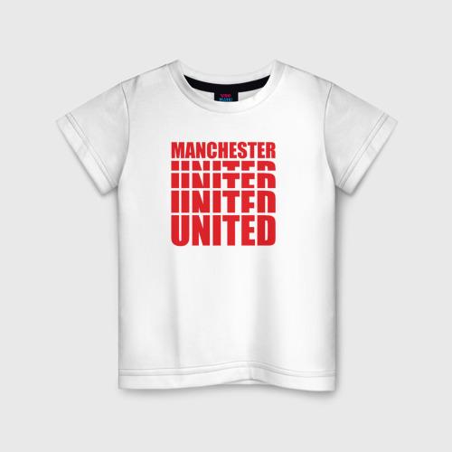 Детская футболка хлопок Manchester United red