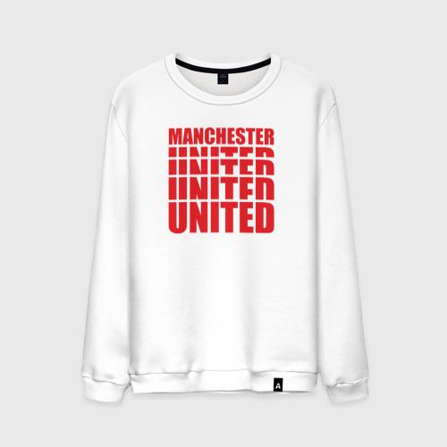 Мужской свитшот хлопок Manchester United red
