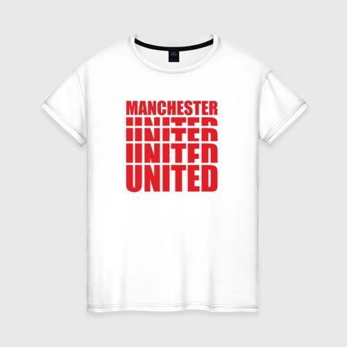 Женская футболка хлопок Manchester United red