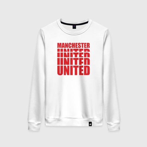 Женский свитшот хлопок Manchester United red
