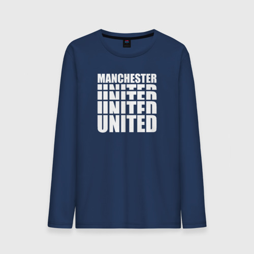 Мужской лонгслив хлопок Manchester United white