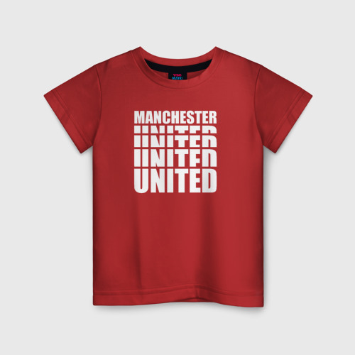 Детская футболка хлопок Manchester United white