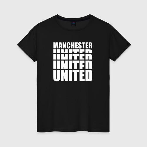 Женская футболка хлопок Manchester United white