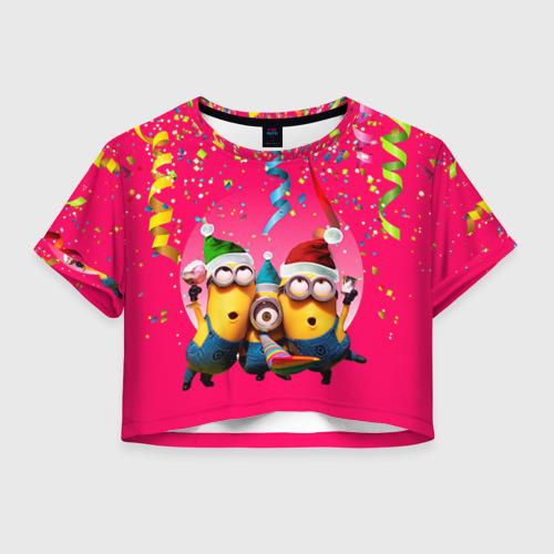 Женская футболка Crop-top 3D Праздник