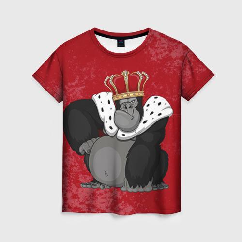 Женская футболка 3D Обезьяна король