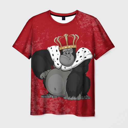 Мужская футболка 3D Обезьяна король