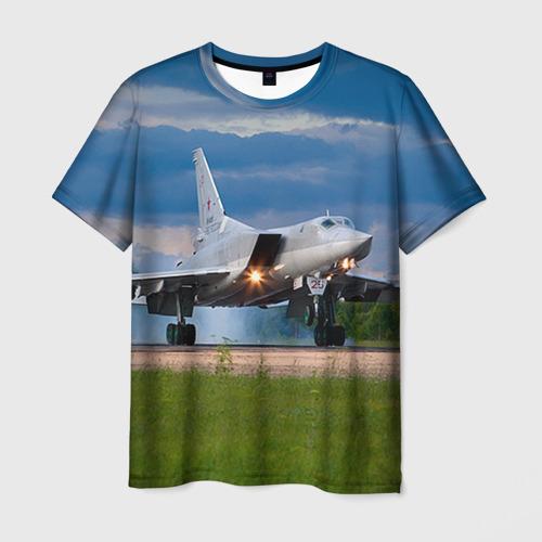 Мужская футболка 3D Самолёт