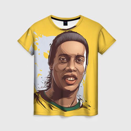 Женская футболка 3D Ronaldinho