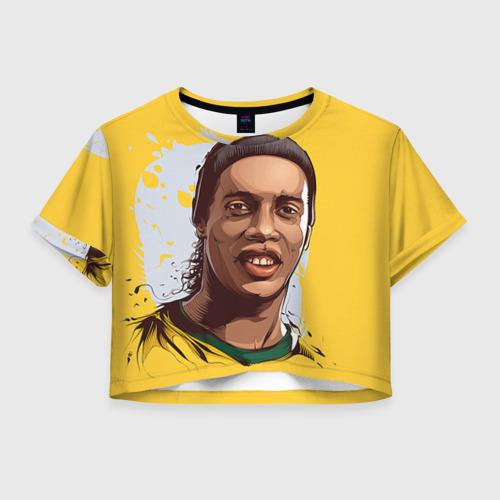 Женская футболка Crop-top 3D Ronaldinho