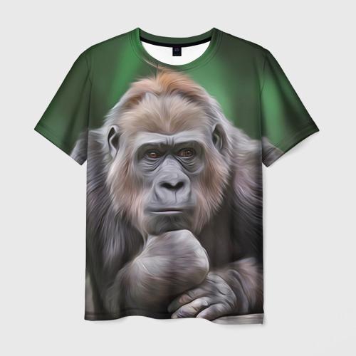 Мужская футболка 3D Обезьяна