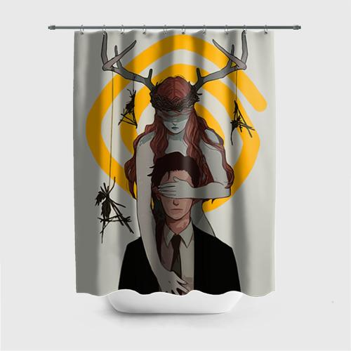 Штора 3D для ванной Настоящий детектив