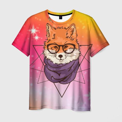 Мужская футболка 3D Лиса