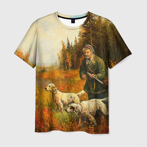 Мужская футболка 3D Охота