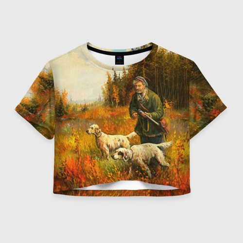 Женская футболка Crop-top 3D Охота