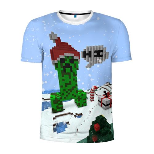 Мужская футболка 3D спортивная Minecraft