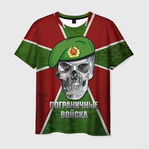 Мужская футболка 3D Пограничные войска