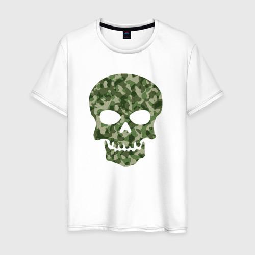 Мужская футболка хлопок Camo skull