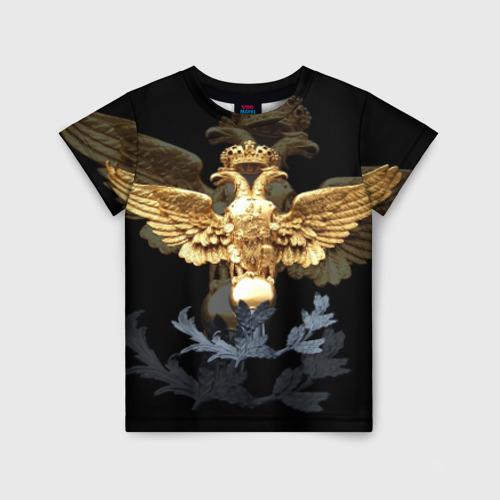 Детская футболка 3D Золотой орел