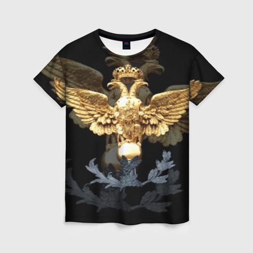 Женская футболка 3D Золотой орел