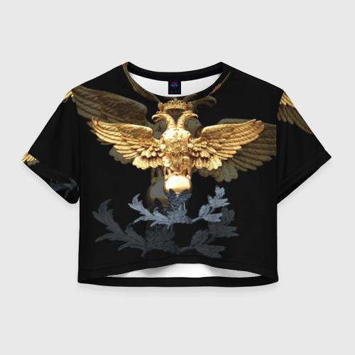 Женская футболка Crop-top 3D Золотой орел