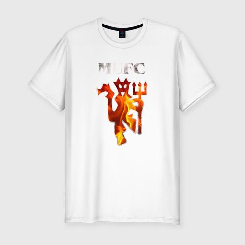 Мужская футболка хлопок Slim Manchester United fire