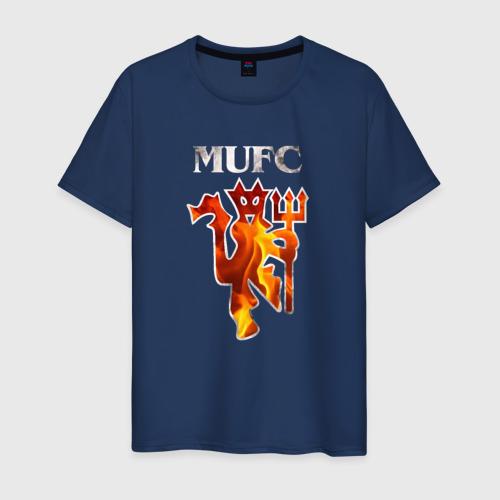 Мужская футболка хлопок Manchester United fire