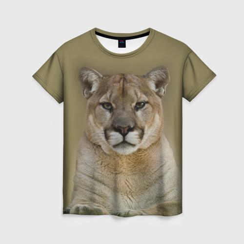 Женская футболка 3D Пума