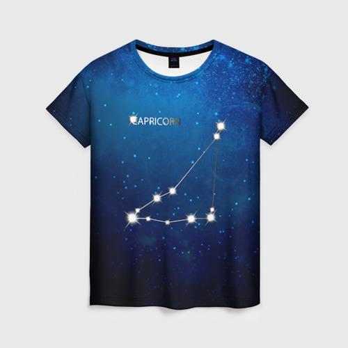 Женская футболка 3D Козерог