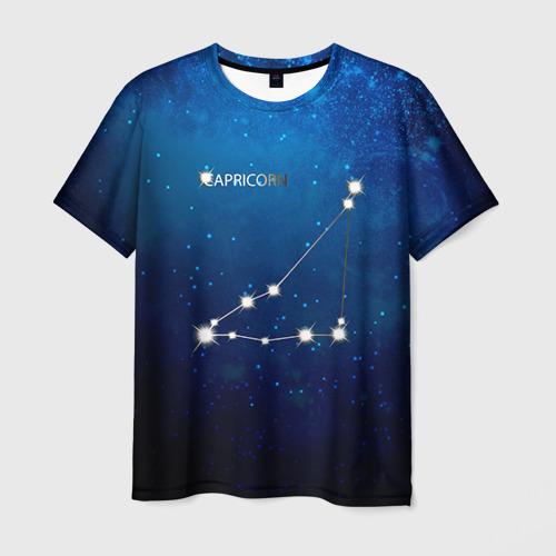 Мужская футболка 3D Козерог