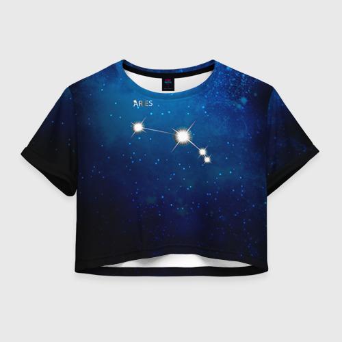 Женская футболка Crop-top 3D Овен