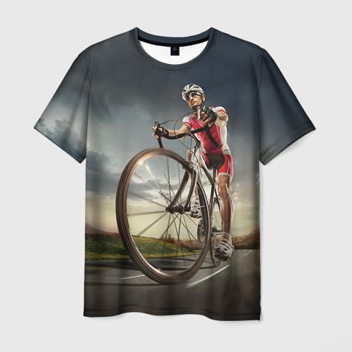 Мужская футболка 3D Велогонщик