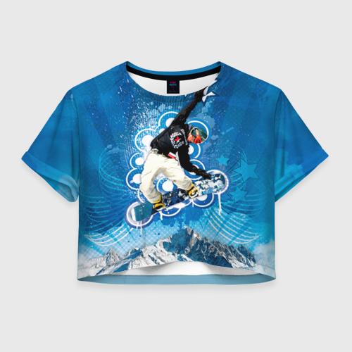 Женская футболка Crop-top 3D Экстрим