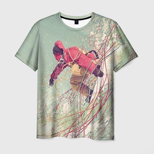 Мужская футболка 3D Сноуборд