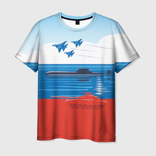Мужская футболка 3D Триколор России