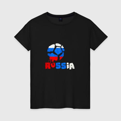 Женская футболка хлопок Россия