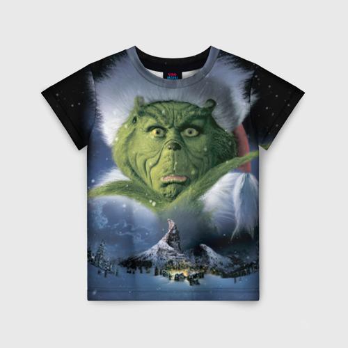 Детская футболка 3D Гринч