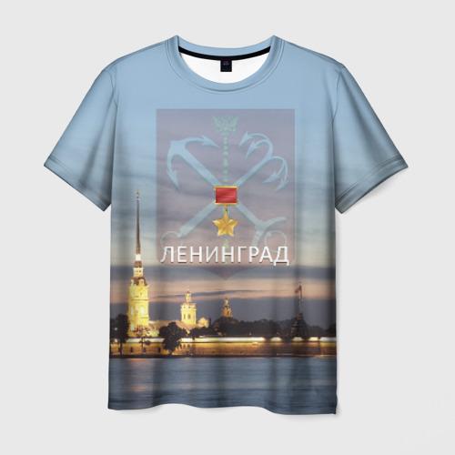 Мужская футболка 3D Город-герой Ленинград