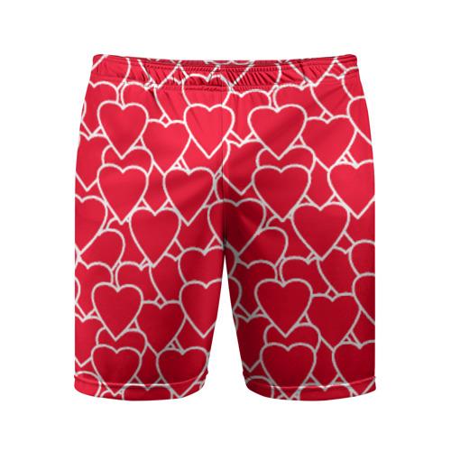 Мужские шорты спортивные Сердца