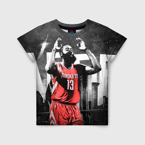 Детская футболка 3D Баскетболист NBA