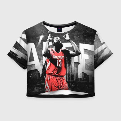 Женская футболка Crop-top 3D Баскетболист NBA