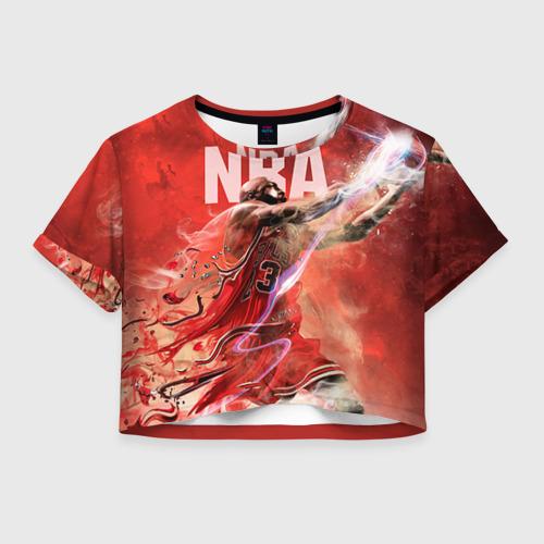 Женская футболка Crop-top 3D Спорт NBA