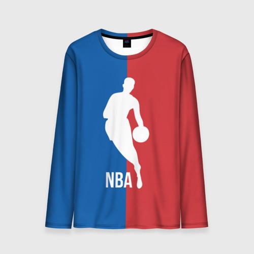 Мужской лонгслив 3D Эмблема NBA