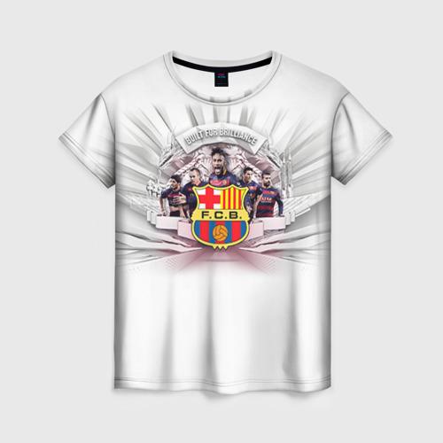 Женская футболка 3D Барселона 1