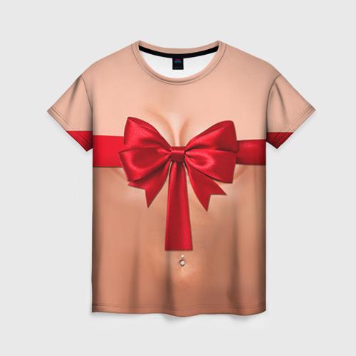 Женская футболка 3D Твой подарочек