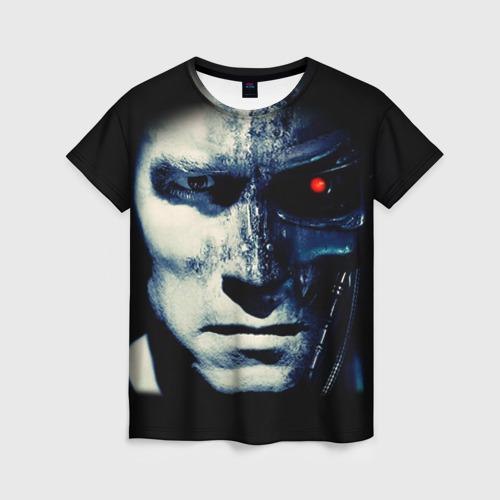 Женская футболка 3D Терминатор 2