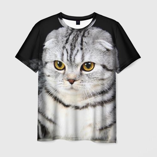 Мужская футболка 3D Кот