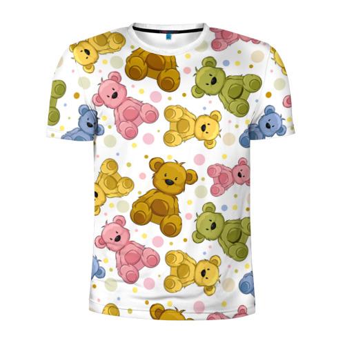 Мужская футболка 3D спортивная Медвежата