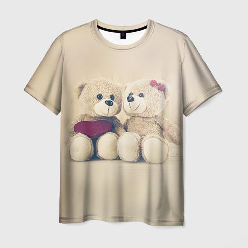 Мужская футболка 3D Love teddy bears
