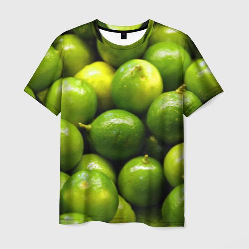 Мужская футболка 3D Лаймовая